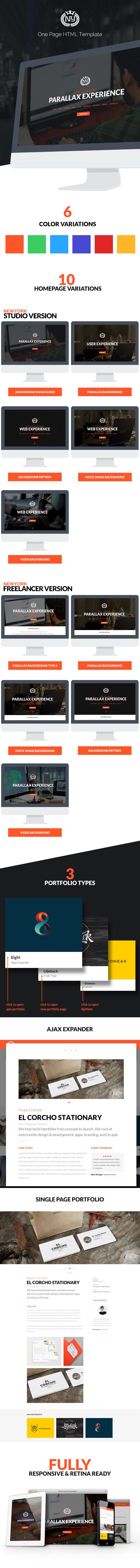 Newyork Studio - Multipurpose Parallax Template